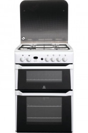 Indesit ID60G2W Freestanding White 60cm Double Oven Gas Cooker