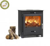 Broseley Silverdale 7 DEFRA Approved Wood Burning Stove - Matte Black