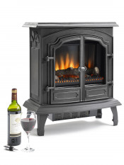 Hillandale Stamford Electric Stove - Matte Black