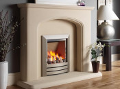 Kinder KRDPA0MN Camber Cream Back Manual Control Gas Fire - Champagne