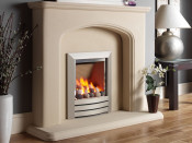 Kinder KRDPW0MN Camber Cream Back Manual Control Gas Fire - Silver