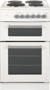 New World 444440486 50cm Twin Cavity Electric Cooker - White
