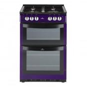 New World 444442151 NW551GTC Metallic Purple 55cm Gas Freestanding Twin Cavity Cooker