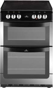 New World NW551ETC Double Oven Ceramic Cooker - Stainless Steel