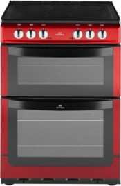 New World NW601EDO Double Oven Ceramic Cooker-  Metallic Red