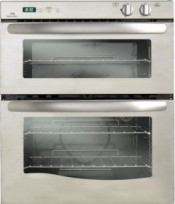 New World 444447277 Satin Steel NW70G Twin Cavity Gas Oven