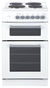 New World EDF50W Electric Cooker with Double Oven - White