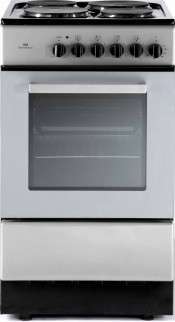 New World ES50S Electric Cooker with Single Oven - Silver