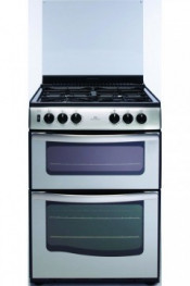 New World G60DTSS Double Oven Gas Cooker - Stainless Steel
