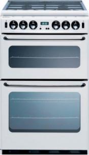 New World NW550TSIDLM Twin Cavity Gas Cooker FFD - White