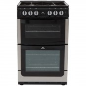 New World NW551GTC 55cm Twin Cavity Gas Cooker - Stainless Steel