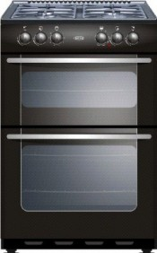 New World NW55TWLGBLK Gas Cooker - Black