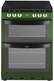 New World NW601EDO 60cm Electric Double Oven Cooker - Metallic Green