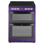 New World NW601EDO 60cm Electric Double Oven Cooker - Metallic Purple