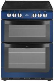 New World NW601EDO Electric Double Oven Cooker - Metallic Blue