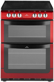 New World NW601EDOM 60cm Double Oven Electric Cooker - Metallic Red