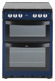 New World 60cm Gas Freestanding Twin Cavity Cooker - Metallic Blue