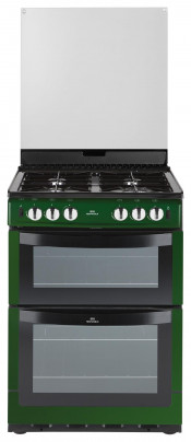 New World NW601GTCL 60cm Gas Freestanding Twin Cavity Cooker - Metallic Green