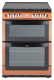 New World NW601GTCL 60cm Gas Twin Cavity Cooker - Copper