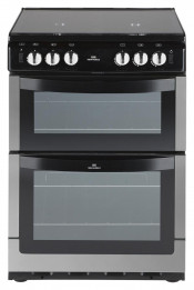 New World NW601GTCL Chrome 60cm Gas Freestanding Twin Cavity Cooker