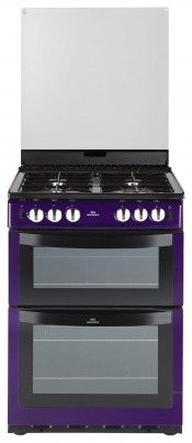 New World Metallic Purple Gas Freestanding Twin Cavity Cooker
