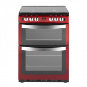 New World NW601GTCLM Twin Cavity Gas Cooker - Metallic Red