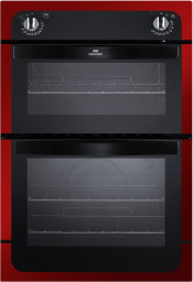 New World NW901DO 90cm Electric Double Oven - Metallic Red