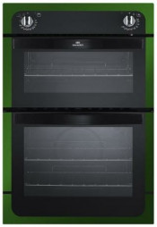 New World NW901DO 90cm Electric Integrated Double Oven - Metallic Red