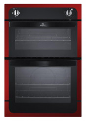 New World NW901G 90cm Built-In Twin Cavity Gas Oven - Metallic Red