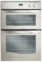 New World NW90GSS Satin Steel NW90G Built In Twin Cavity Gas Oven