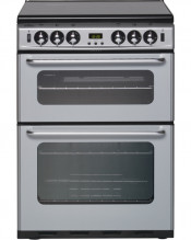 New World TSIDOM Gas Cooker with Double Oven - Silver