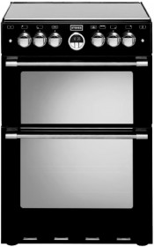 Stoves 600E Sterling Double Oven Ceramic Cooker- Black