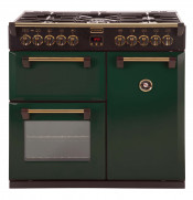Stoves ST90DFT 90 Cm Dual Fuel Richmond Classic range cooker in Green