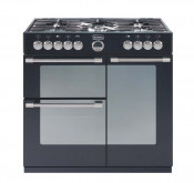 Stoves Sterling 900DFT Dual Fuel Range Cooker- Black