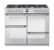 Stoves Sterling R1000DFT Dual Fuel Range Cooker - Stainless Steel