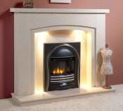 Trueflame Marble WMM31F0RDCURV3 Zircon in Fantasy Royal Marble Fireplace