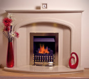 Trueflame WIND54 Mocha Beige Windermere Roman Stone 54` Fireplace