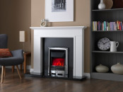 Valor Dimension Petrus Coal Slimline Electric Fire - Silver/Chrome