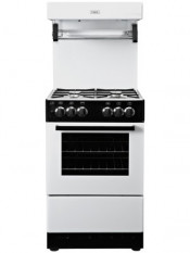 Valor V55HLGWHT Single Oven Gas Cooker with High Level Grill - White