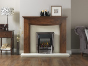 Valor/Wonderfire Homeflame Bauhaus Gas Fire - Black/Nickel