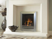 Verine Quasar Manual Control Gas Fire - Champagne Frontier Trim