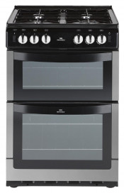 New World NW551GTC Gas Cooker Double Oven - Stainless Steel