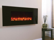 Celsi Electriflame1300 Wall Mounted Electric Fire - Black Glass