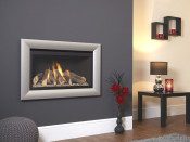 Flavel Rocco HE Gas Fire - Silver W/ Black Interior