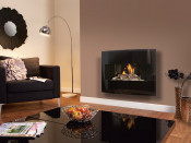 Flavel Castelle Slimline Gas Fire - Black Glass