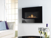 Flavel Kamina HE Gas Fire - Black Glass