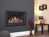 Flavel Rocco Balanced Flue Gas Fire - Black W/ Black Interior