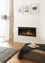 Crystal Fires Connelly Collection Denver HE Log Gas Fire - Trimless W/ Black Interior