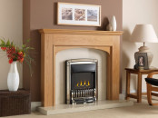Valor Homeflame Excelsior Slimline Gas Fire - Pale Gold Shelf Wear