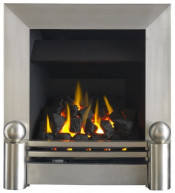 Valor Airflame Blakely Gas Fire - Brushed Steel